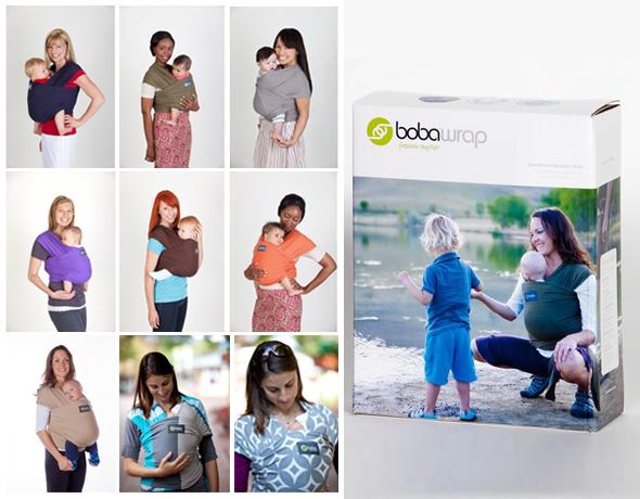 Упаковка и варианты расцветки слингов от бренда Boba Family