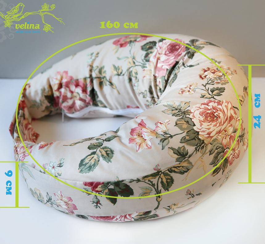 Размеры подушки для кормления Velina