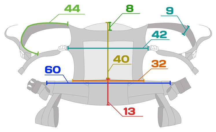 Детальные замеры эрго-рюкзака Боба (Boba Baby Carrier 3G) для гуру.